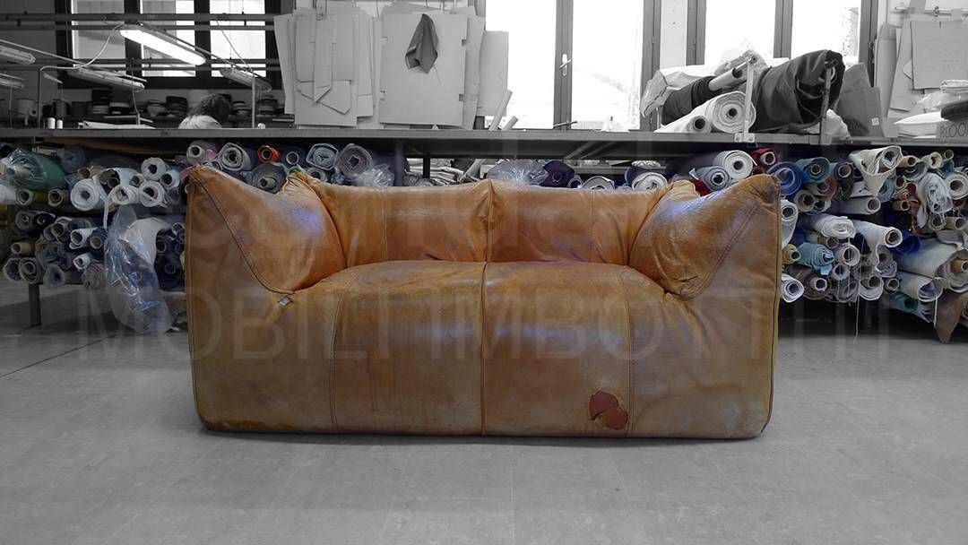 Restauro e nuovo rivestimento divano e poltrona B&B LE BAMBOLE