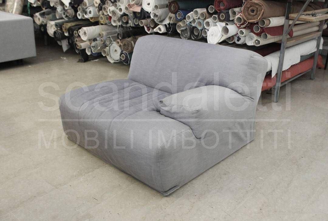 Restauro e nuovo rivestimento divano modello cassina fiandra - Divano letto cassina ...