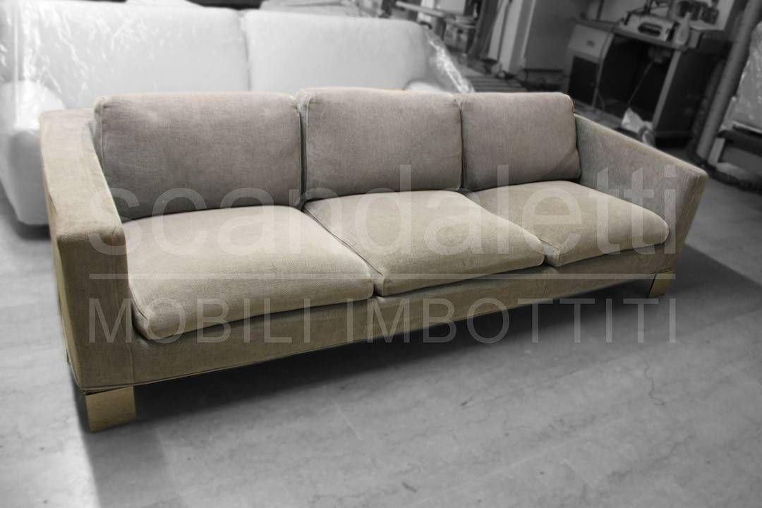Restauro e nuovo rivestimento divano minotti pollock for Divano letto minotti