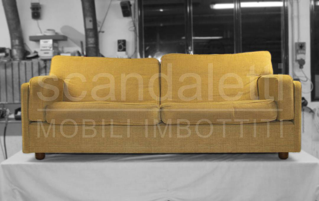 Restauro e rivestimento divano poltrona frau modello socrate - Rifacimento cuscini divano ...