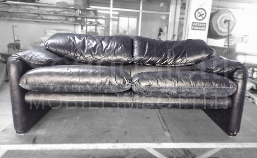 Restauro nuovo rivestimento divano poltrona cassina maraluna - Divano maralunga cassina ...