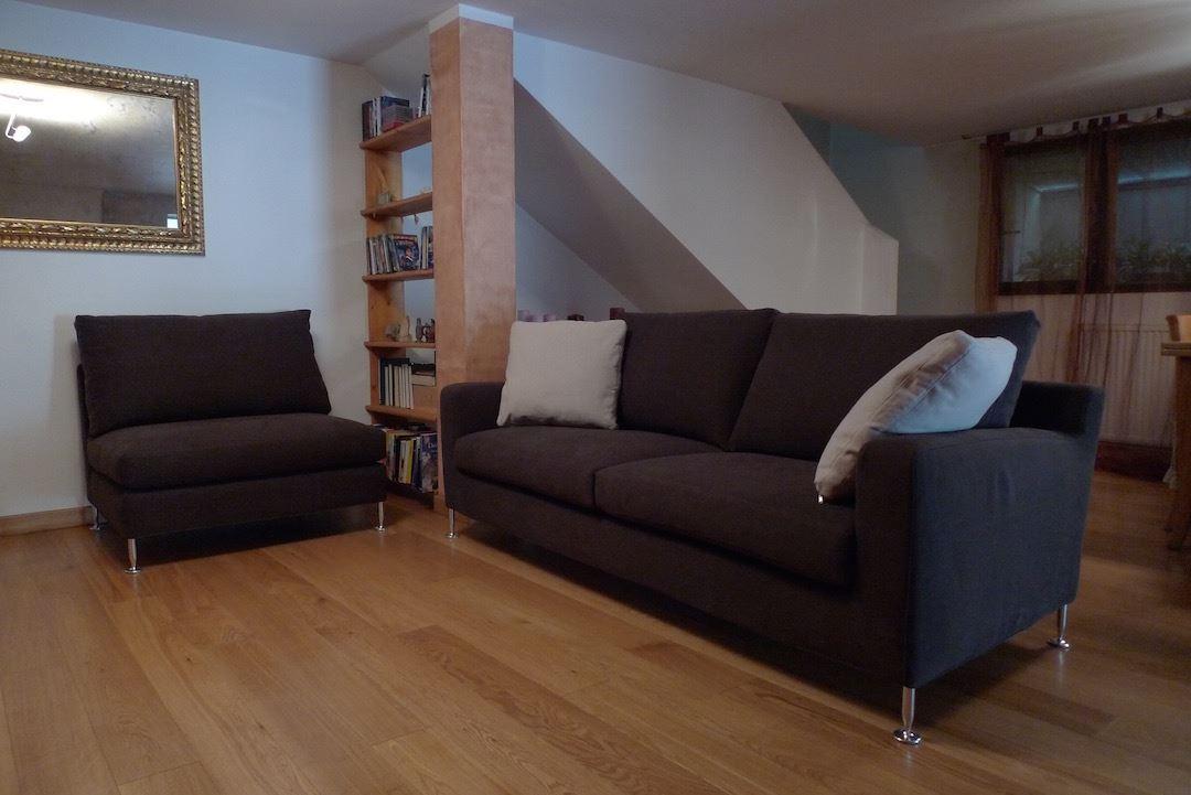 Realizzazione divano su progetto fred. divani su misura
