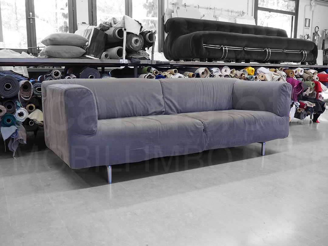 Restauro cassina met rivestimento divano cassina met - Divano letto cassina ...