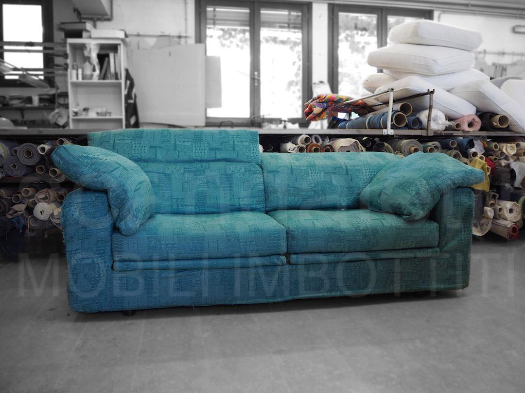 Restauro e nuovo rivestimento divano cinova modello lerasofa - Cinova divani letto ...