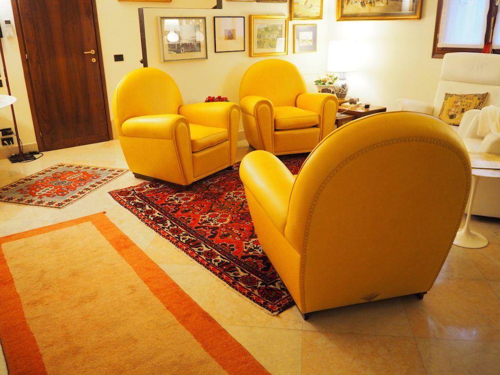 Poltrona Frau Vanity restoration. Upholster repair & remaking.